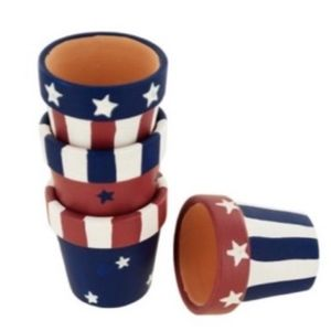Americana Terra Cotta Napkin Rings (8)Set